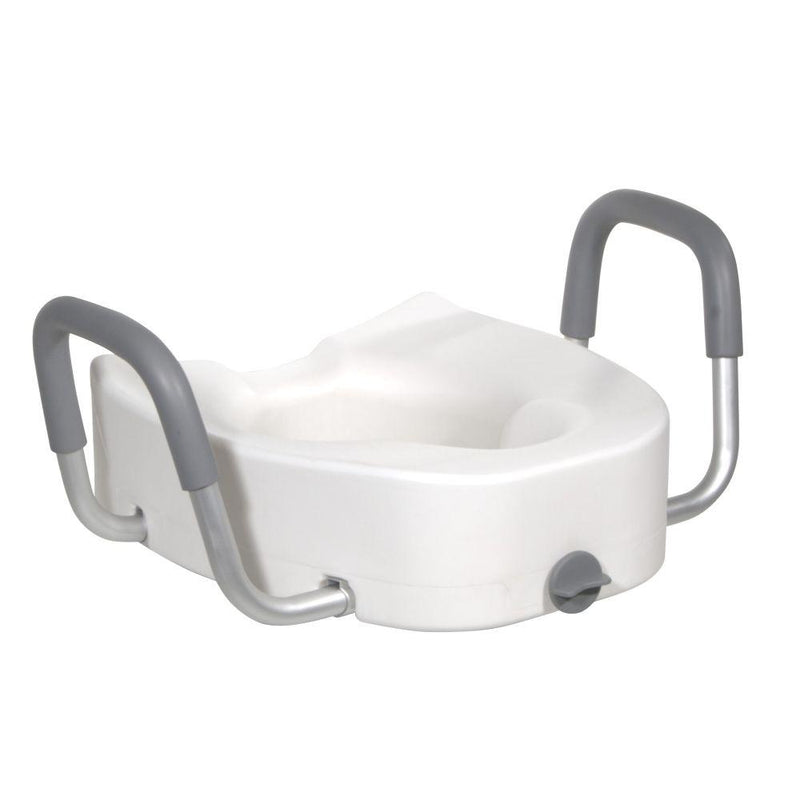 Premium Plastic Raised Toilet Seat with Lock and Padded