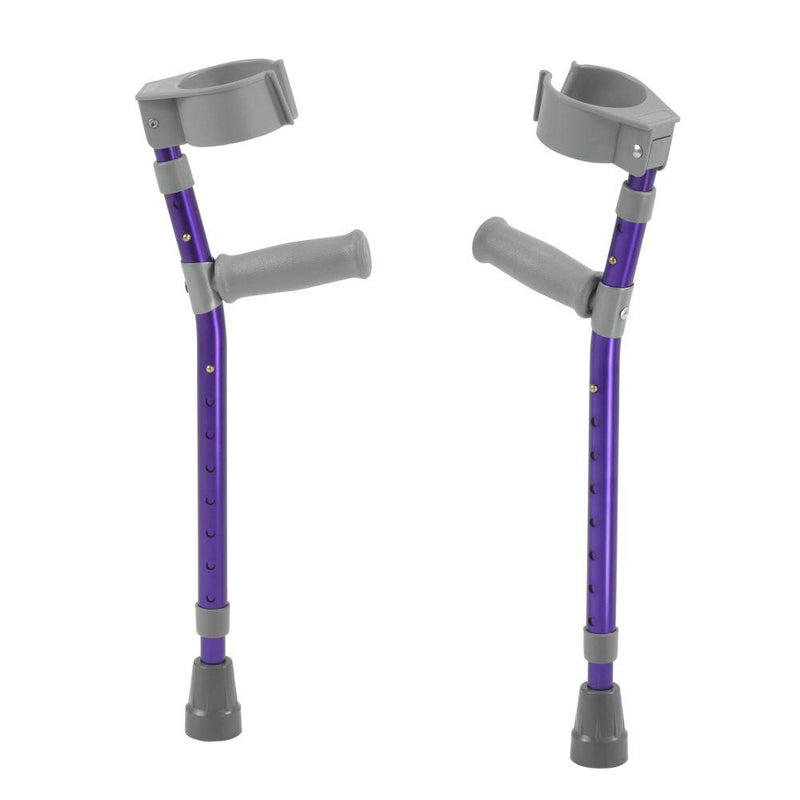 Pediatric Forearm Crutches Large Wizard Purple Pair -