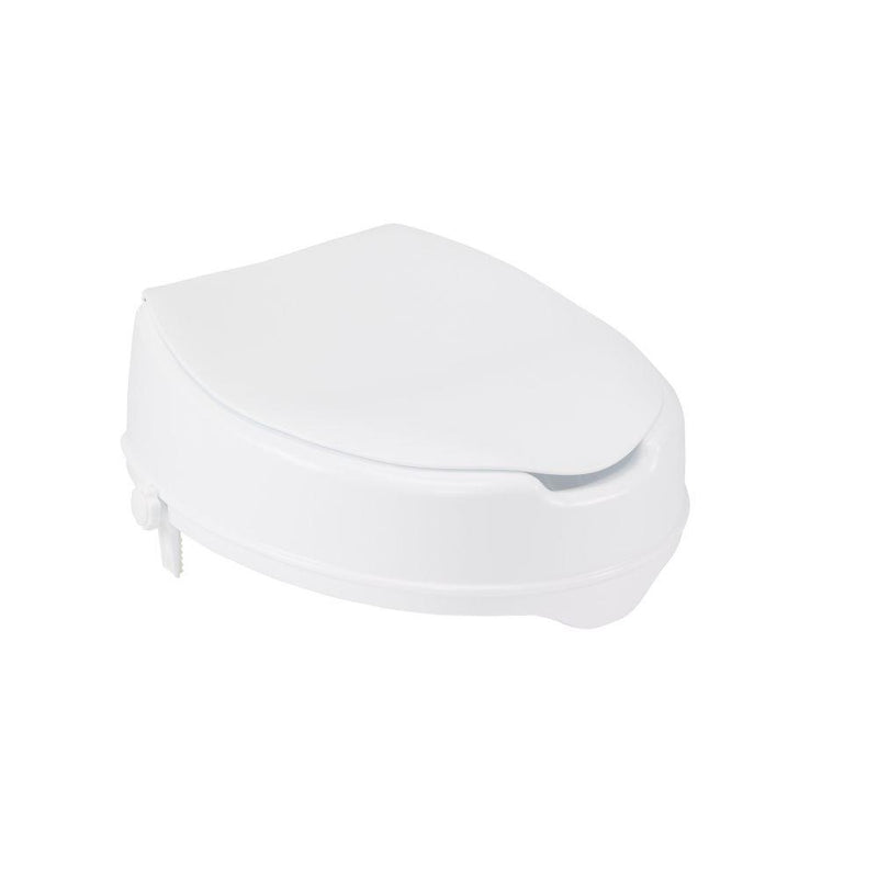 Raised Toilet Seat with Lock and Lid Standard Seat 4 -