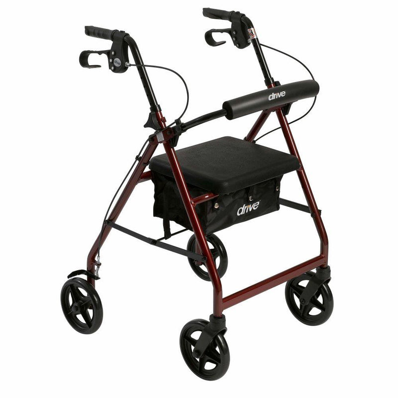 Aluminum Rollator Rolling Walker with Fold Up and Removable