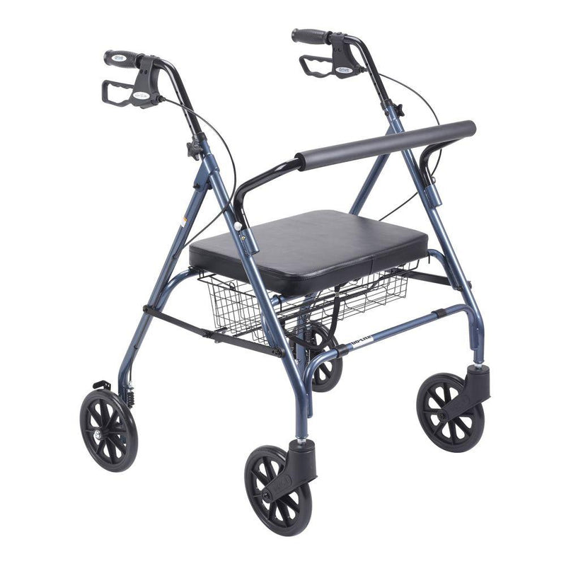 Heavy Duty Bariatric Rollator Rolling Walker with Large