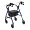 Rollator Rolling Walker with 6 Wheels Fold Up Back + Seat -