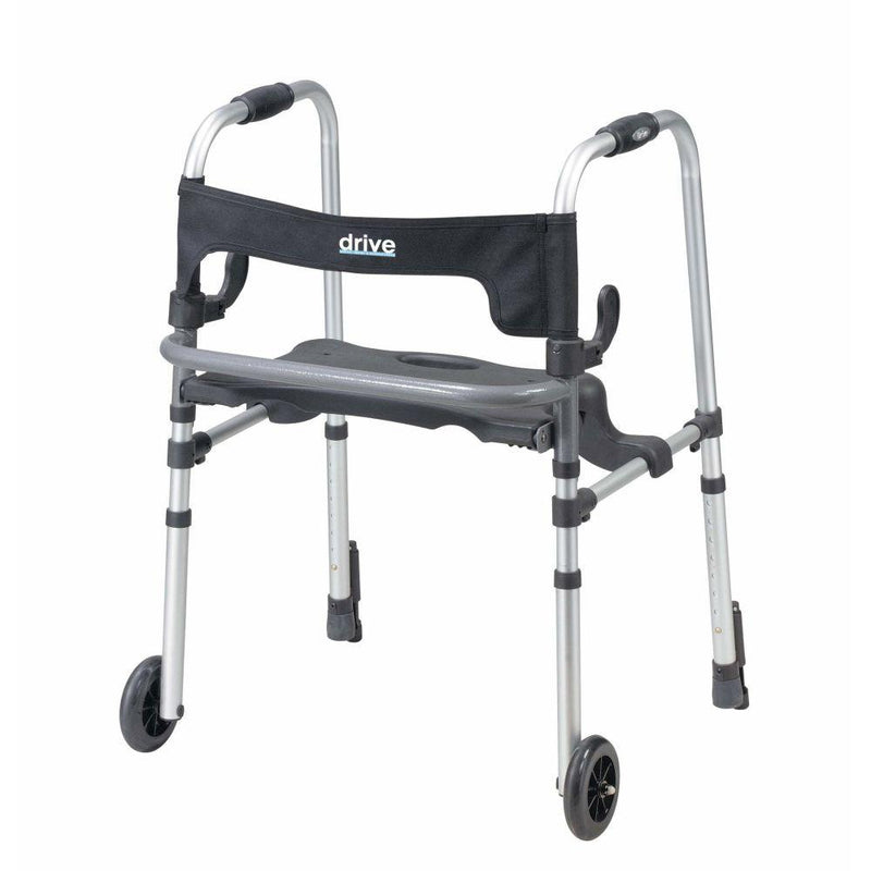Clever Lite lightweight drive walker with seat and brake -
