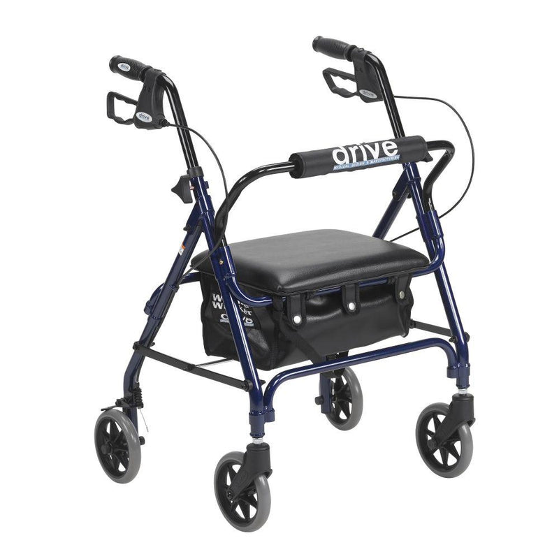 Junior Rollator Rolling Walker with Padded Seat Blue -