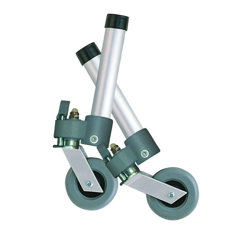 Locking Swivel Walker Wheels with Two Sets of Rear Glides -