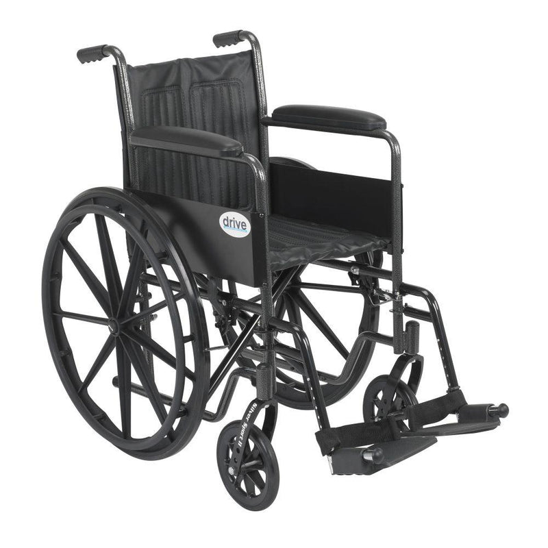 Silver Sport 2 Wheelchair Non Removable Fixed Arms Swing