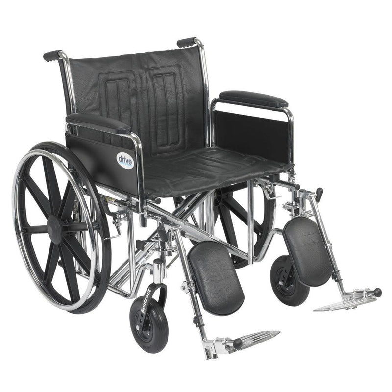 Sentra EC Heavy Duty Wheelchair Detachable Full Arms