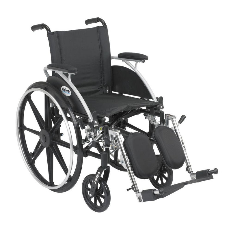 Viper Wheelchair with Flip Back Removable Arms Desk Arms