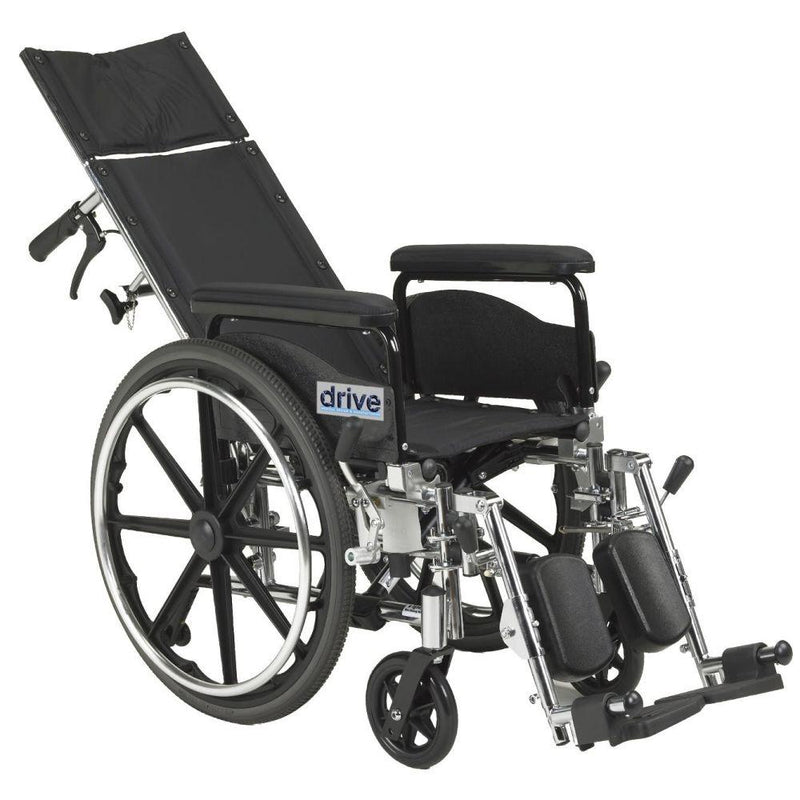 Viper Plus GT Full Reclining Wheelchair Detachable Full Arms