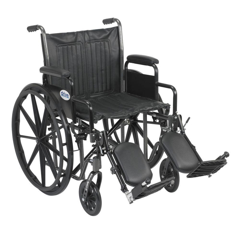 Silver Sport 2 Wheelchair Detachable Desk Arms Elevating Leg