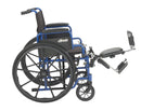 Blue Streak Wheelchair with Flip Back Desk Arms Elevating