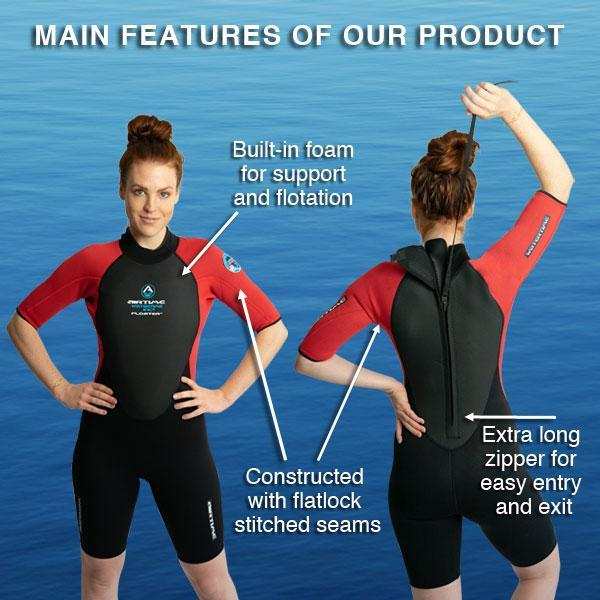 Women's wetsuit with built-in floatation - Water Sport