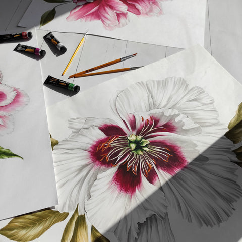 Floral painting in watercolour