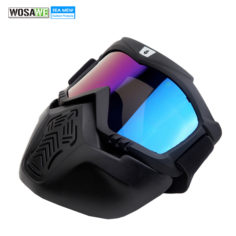 Snowboard Goggles with Detachable Face Mask