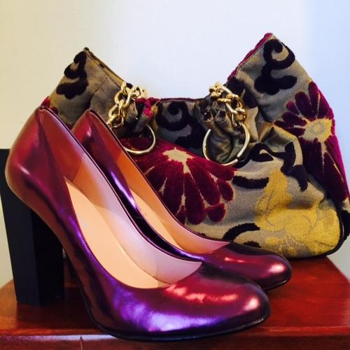Cool shoes and purse!
