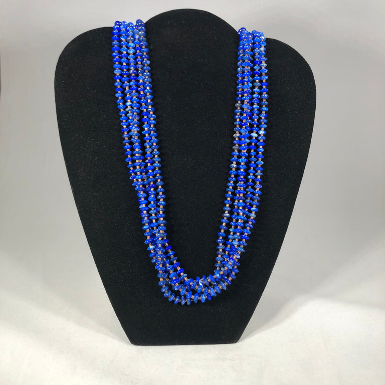 Multi-Strand Lapis Necklace