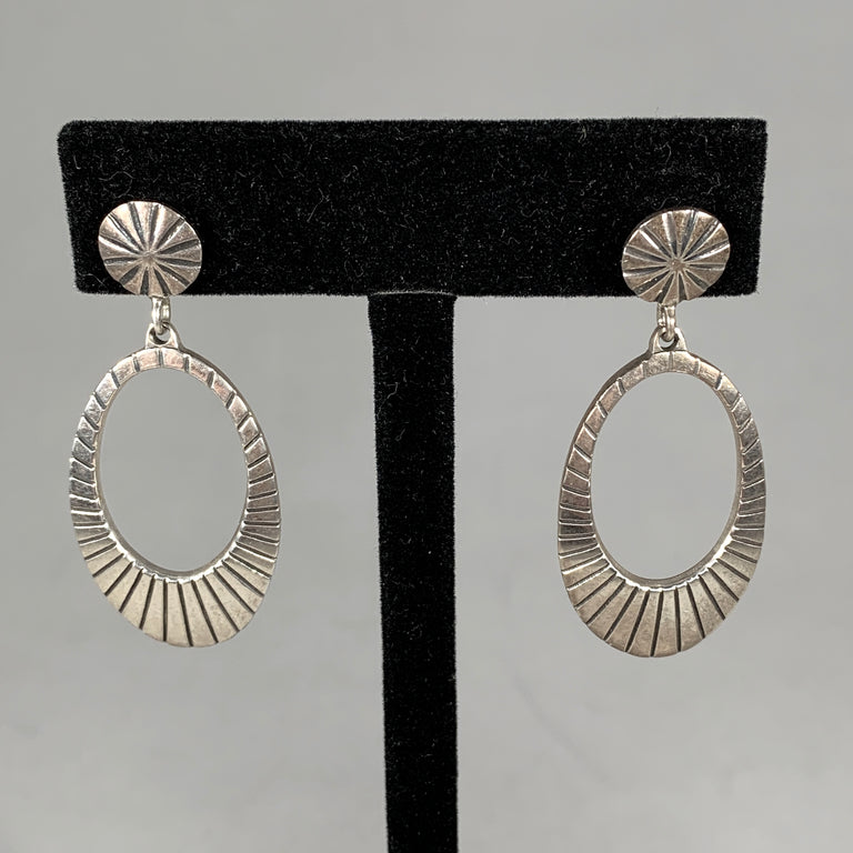 Sterling Oval Earrings