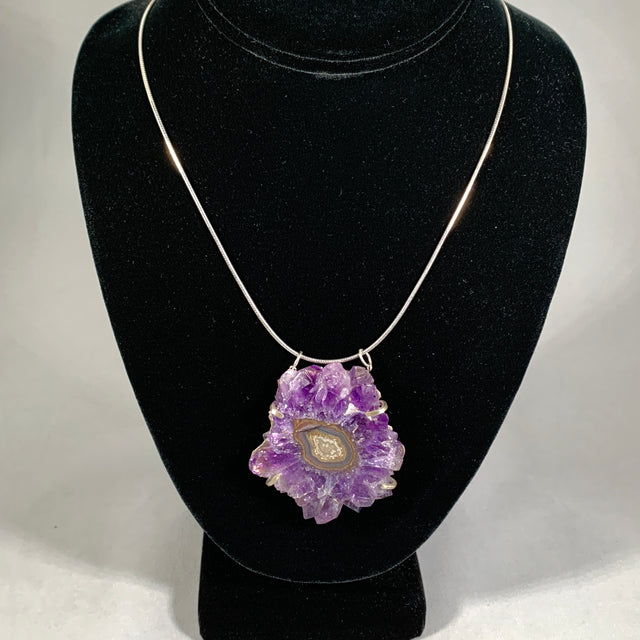 Amethyst Stalacite Necklace