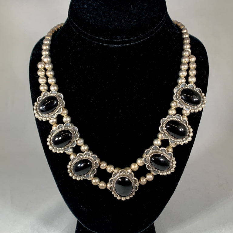 Onyx & Sterling Necklace