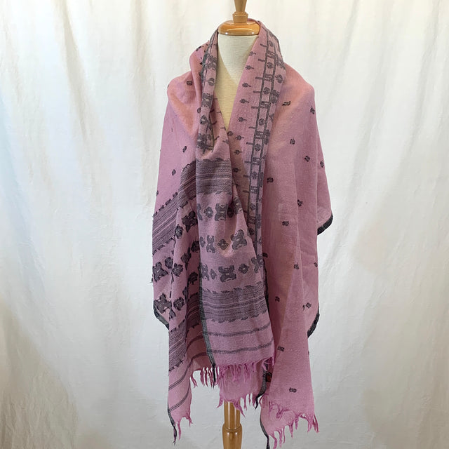 Pink, Gray and Silver Scarf