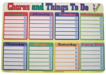 Chores and Things To Do mat