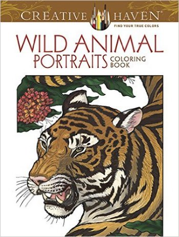 Wild Animals Portraits Coloring Book