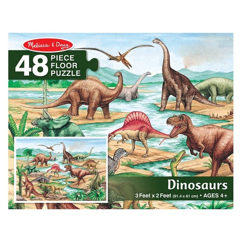 Melissa And Doug Dinosaurs Jumbo Floor Puzzle 48pc