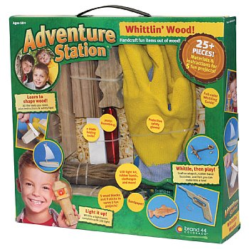 Adventure Station Whittling wood