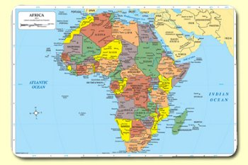 Map Of Africa Bodies Of Water.Africa Map Mat