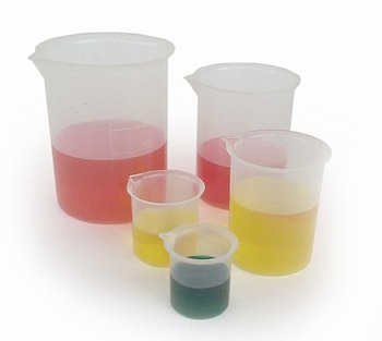 Set of 5- Plastic Beakers