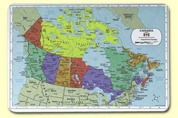 Water Bodies Map Of Canada.Canada Map Mat
