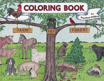 Farm & Forest Coloring Book
