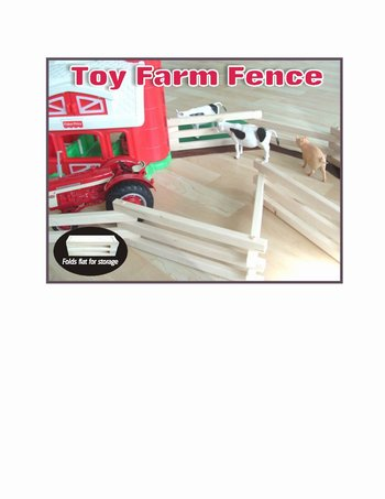 Toy Farm Fence - assembled
