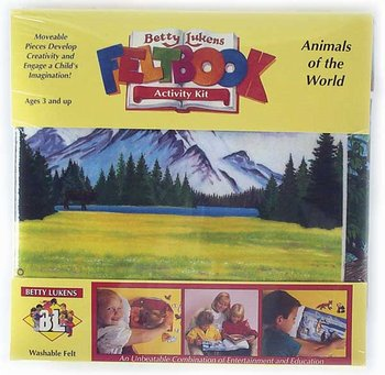 Animal Habitats Felt Book