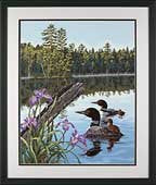 Loons and Irises - PaintWorks
