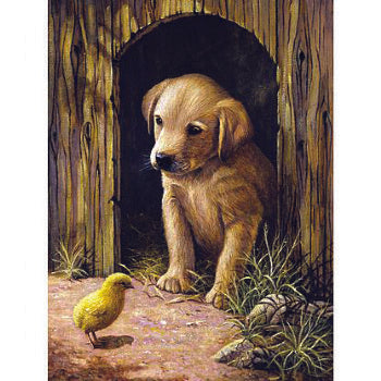 Labrador Puppy -Painting by numbers