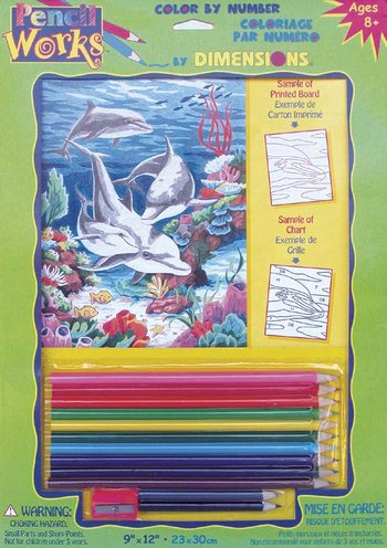 Dolphins in/Sea-Pencilworks