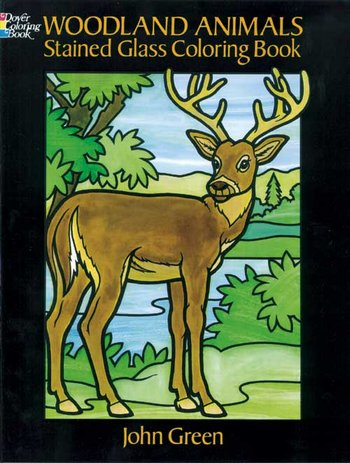Woodland Animal-stain glass cb