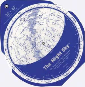 Night Sky Star Map-Dial Chart