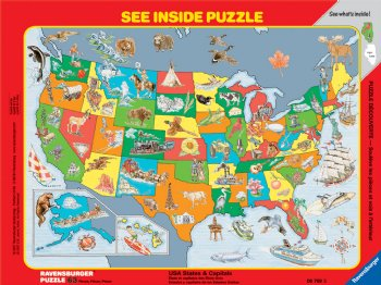 USA States & Capitals - Puzzle