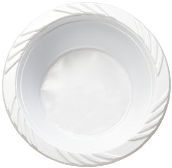 Deep Bowl-White Plastic