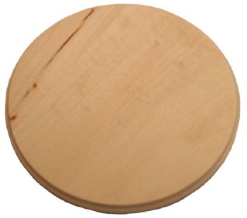 Circle Basswood Plaque - 6""