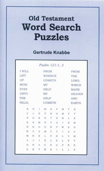 Old Testament Word Search Puz.