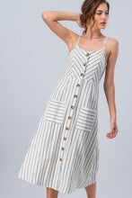 Load image into Gallery viewer, Buttons and Stripes Dress