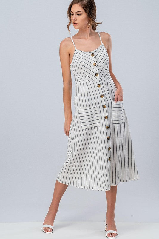 Buttons and Stripes Dress