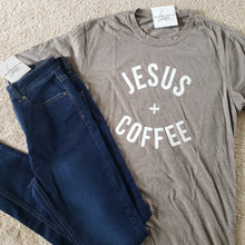Load image into Gallery viewer, Jesus + Coffee Tee