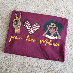 Peace, Love & Melanin Tee