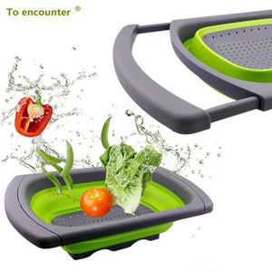 Collapsible Kitchen Basket Drainer