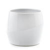 Decorative Pots - Glossy White Ceramic - Curb Appeal Plants