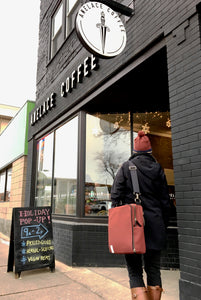 äventyr The Side Hustle Bicycle Laptop Pannier Bag at Anelace Coffee Minneapolis